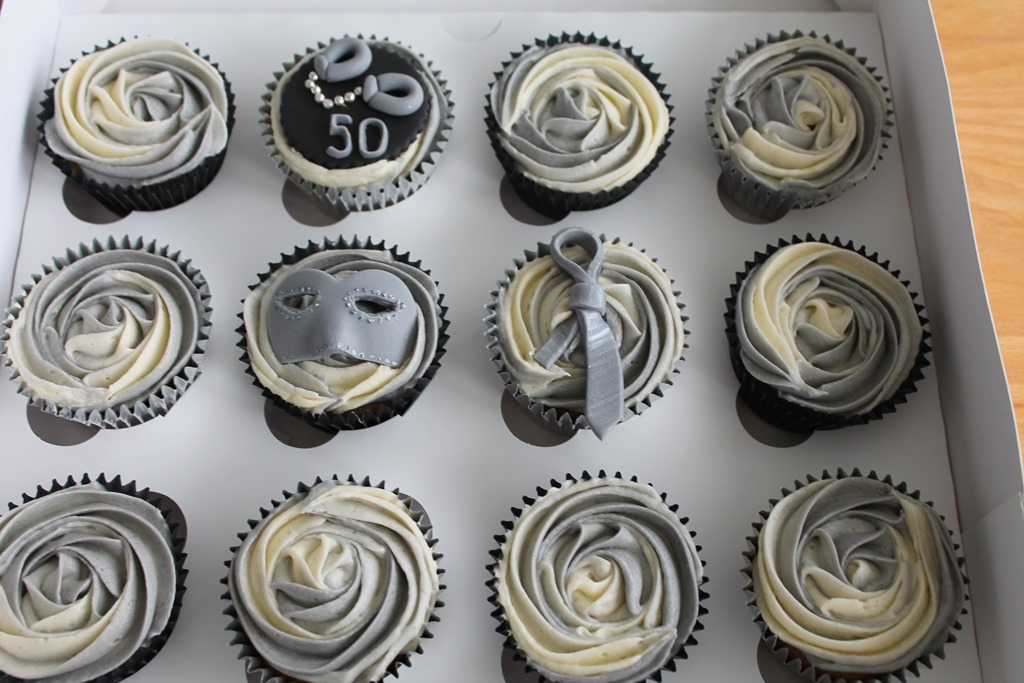 Cupcakes Themed Around Fifty Shades Of Grey Cupcake